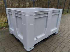 Schoeller Maxilog palletbox met 3 sledes. Grijs ( nieuw)