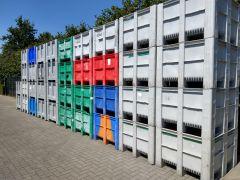 Palletboxen beschadigd