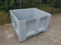 Palbox palletbox met 3 sledes, grijs ( nieuw )