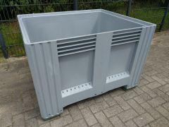 Palbox palletbox op 4 voeten, grijs ( nieuw ) stapelkorting